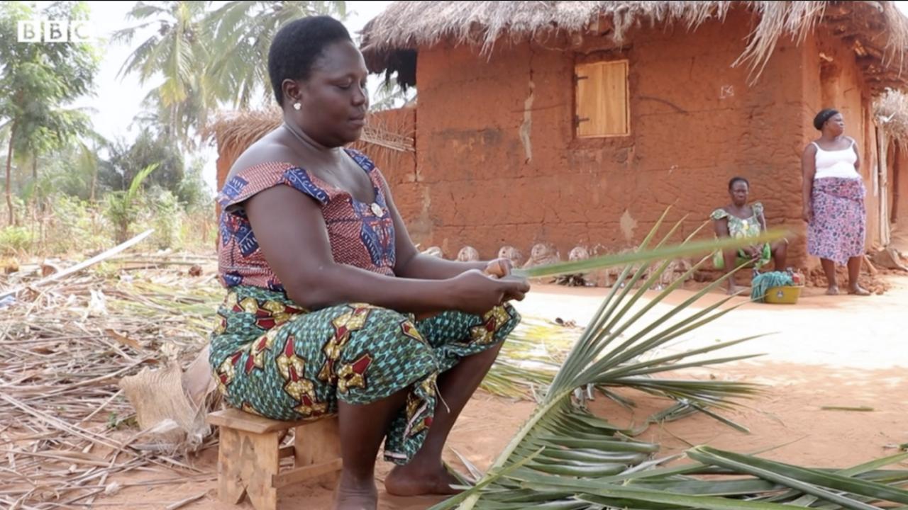 Game Akoko, a cash transfer recipient in Togo.